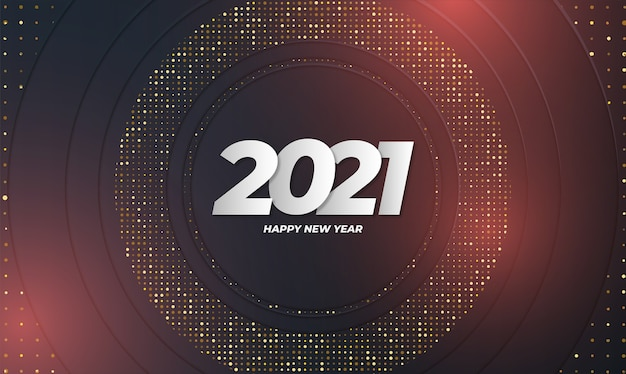 Elegant new year card with abstract background