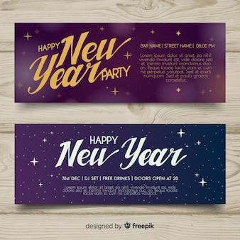 Elegant new year party banners