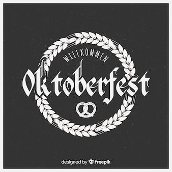 Elegant oktoberfest composition with blackboard style