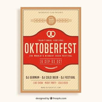 Elegant oktoberfest poster with vintage design