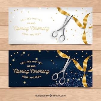 Opening invitation vectors photos and psd files free download elegant opening ceremony banners stopboris Image collections
