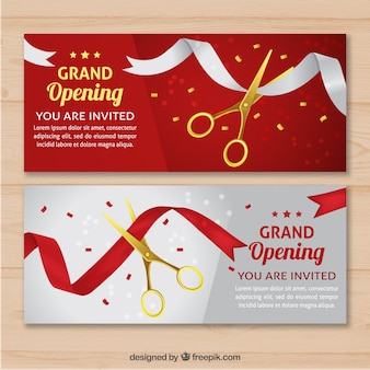 Elegant opening invitation with realistic style