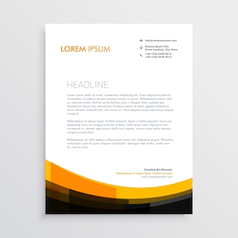 Elegant orange black letterhead design