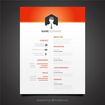 Elegant orange cv design