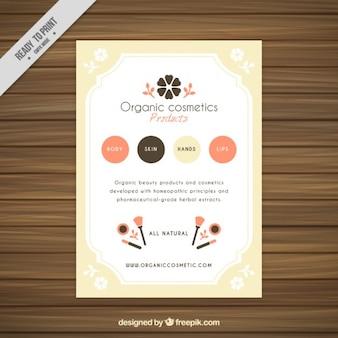 Elegant organic cosmetics products flyer