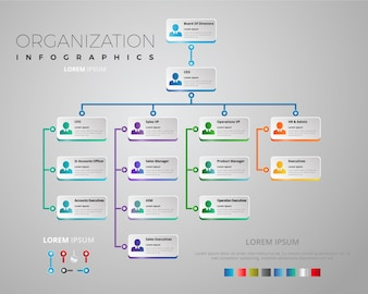 Organization Chart Vectors Photos And PSD Files Free Download - Illustrator organizational chart template
