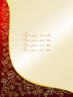 Elegant ornamental background with space for text
