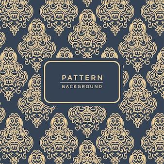 Elegant ornamental baroque style pattern