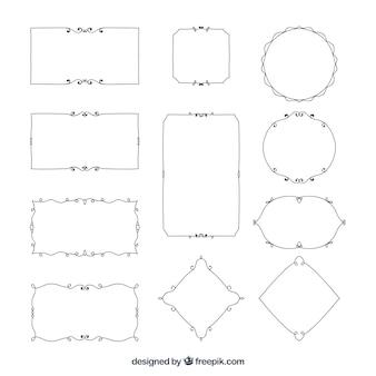 エレガントな装飾用の罫線のセット
