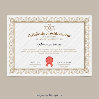 Элегантный шаблон декоративного сертификата