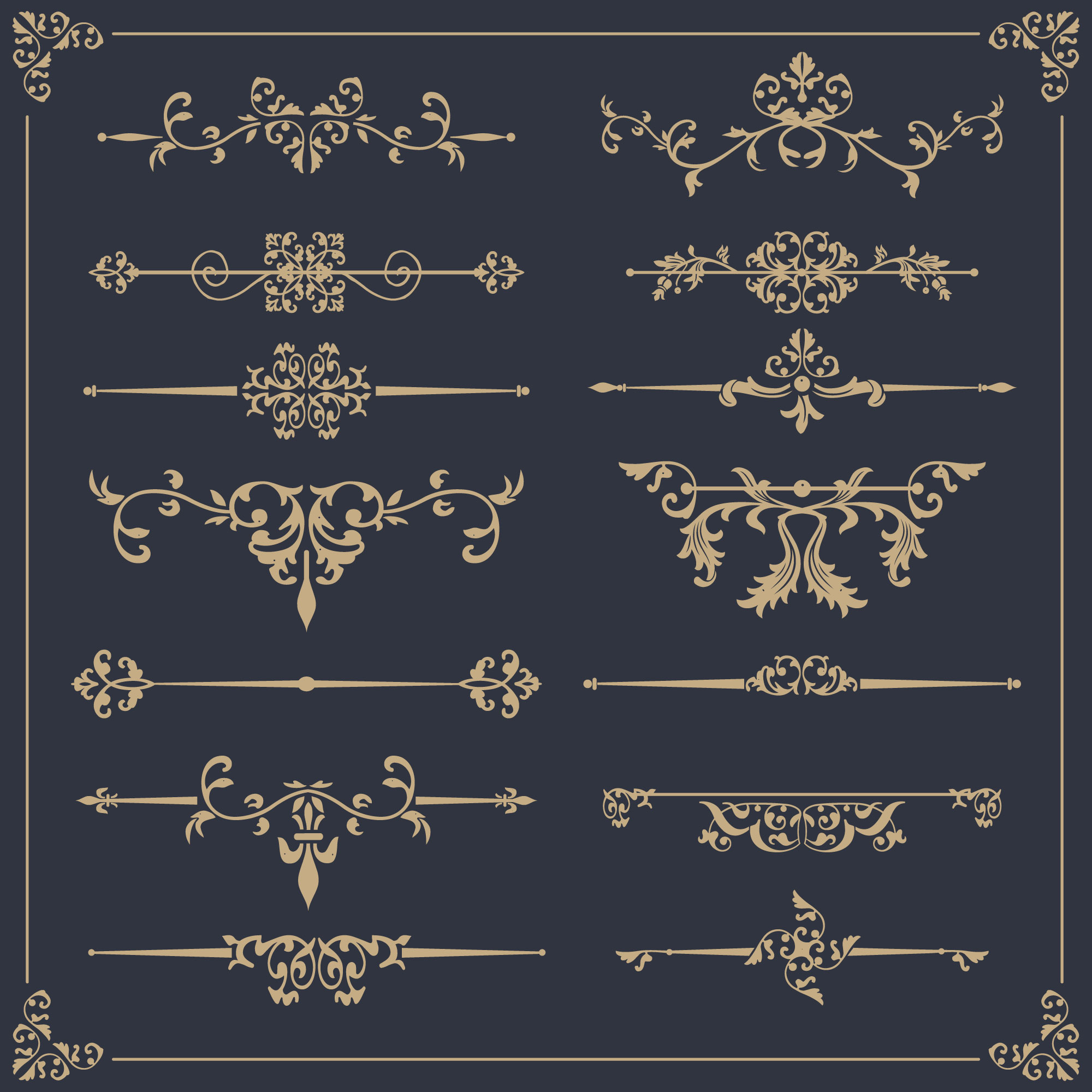 Elegant ornamental collection