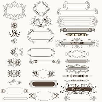 Elegant ornamental elements