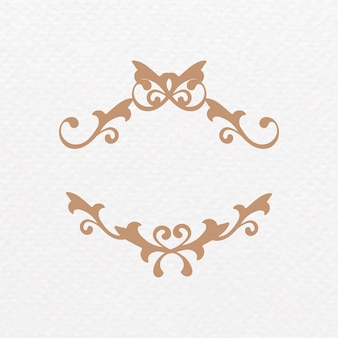 Elegante cornice ornamentale bronzo