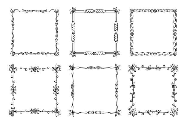 Набор элегантных декоративных рамок