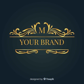 Elegant ornamental logo for brand