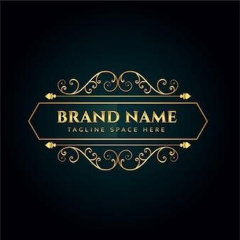 Elegante modello ornamentale logo concept design