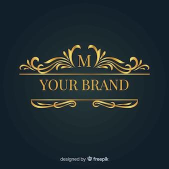 ブランドのエレガントな装飾ロゴ