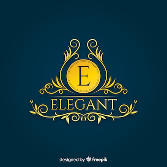 Elegant ornamental logo template