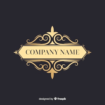 Elegant ornamental logo with company name