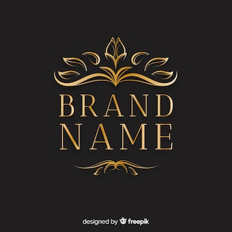 Elegant ornamental logo with leaves