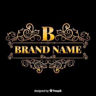 Elegant ornamental logo