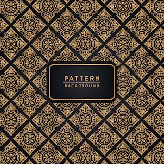Elegant ornamental pattern background in gold color