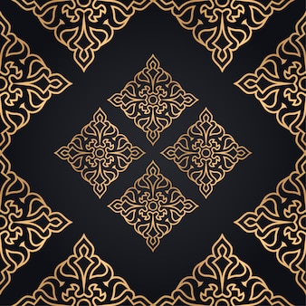 Elegant ornamental pattern background in gold color