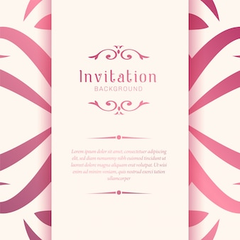 Elegant ornamental wedding invitation pattern background