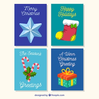 Elegant pack of christmas cards