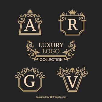 Elegant pack of vintage logo templates