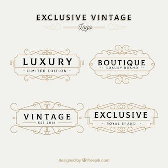 Elegante confezione di modelli di logo vintage