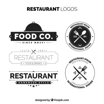 Elegant pack of vintage restaurant logos