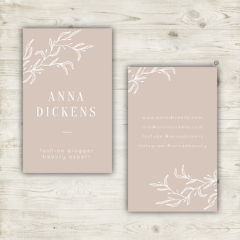 Elegant pastel business card