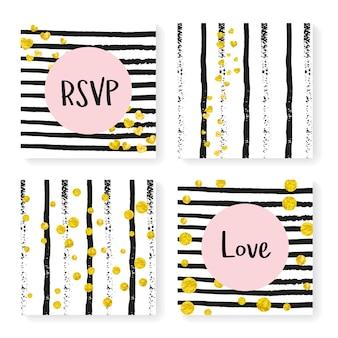 Elegant pattern. nursery flyer. golden winter print. stripe carnival paint. white mothers particle. feminine painting set. black rain magazine. stripe elegant pattern