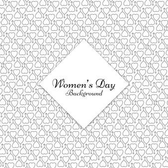 Donne giorno cuore femminile del modello di simbolo di sfondo