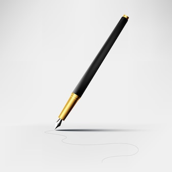 Elegant pen vector realistic