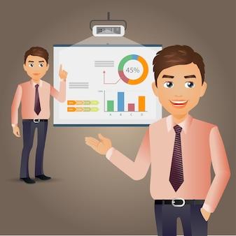 Elegant people-business people giving presentation
