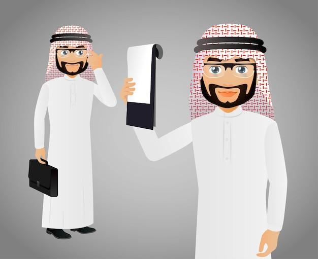 Элегантные люди, арабские деловые люди, выступая с презентацией