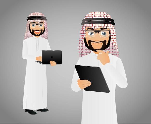 エレガントなピープルアラブビジネスマン