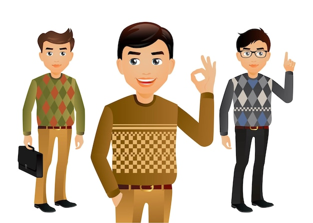 Elegant peoplemen in fashion clothes