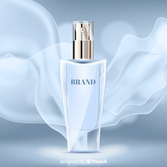 Elegant perfume on abstract background