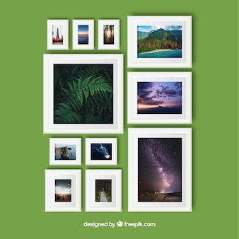 Elegant photo frame collage with realistic design