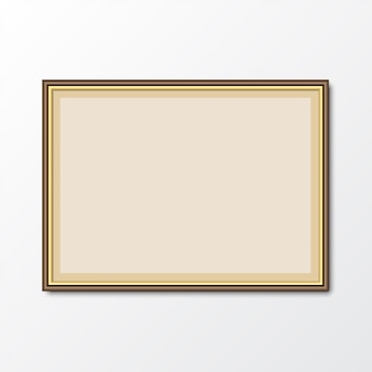 Elegant picture photo frame with shadow. vector illustration