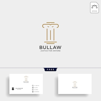 Elegant pillar attorney logo
