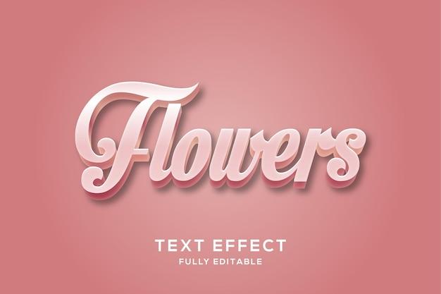 Elegant pink 3d text effect