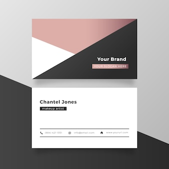 Elegant pink gold business card