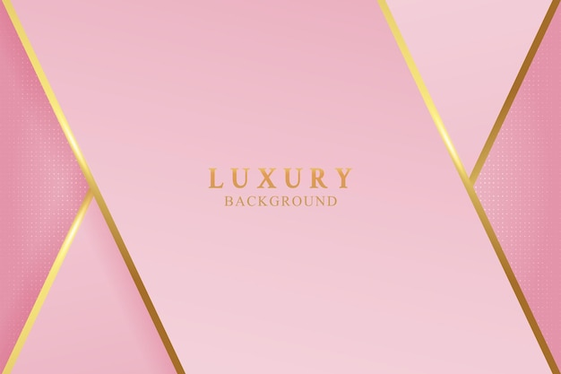 Elegant pink luxury background concept with shiny gold and glitter texture