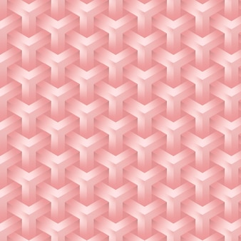 Elegant pink rose background of geometrical shapes seamless and editable pattern