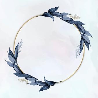 Elegant plant leaf frame