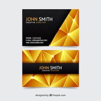 Элегантная полигональная визитная карточка